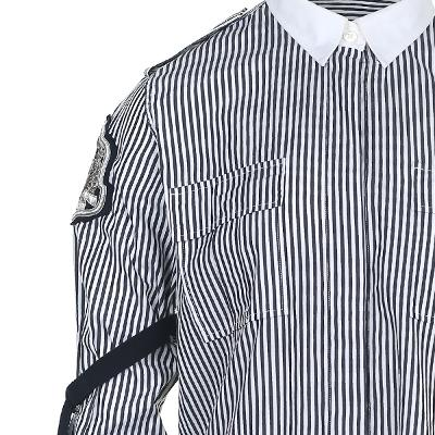 wappen point string detail stripe shirt